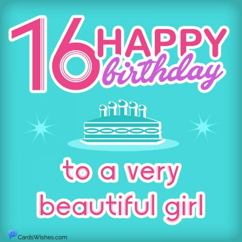 Happy 16th Birthday to a very beautiful girl.