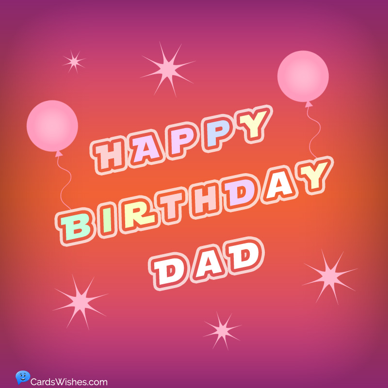 Happy Birthday Dad! - Red background.