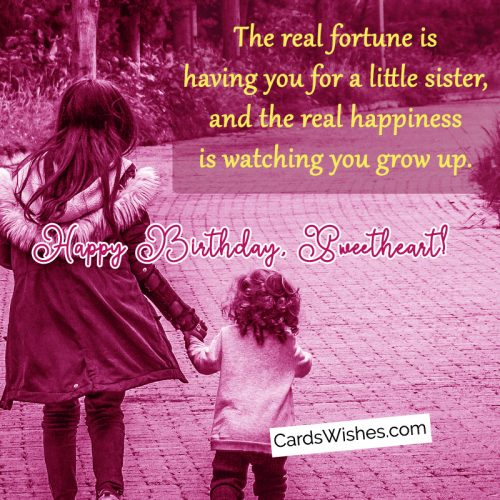 Happy Birthday, my little sister.