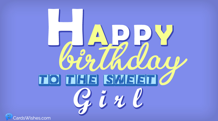 Happy Birthday to the sweet girl.
