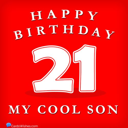 Happy Birthday, my cool son.