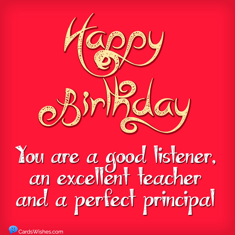 Happy Birthday Principal Best Wishes For Principal