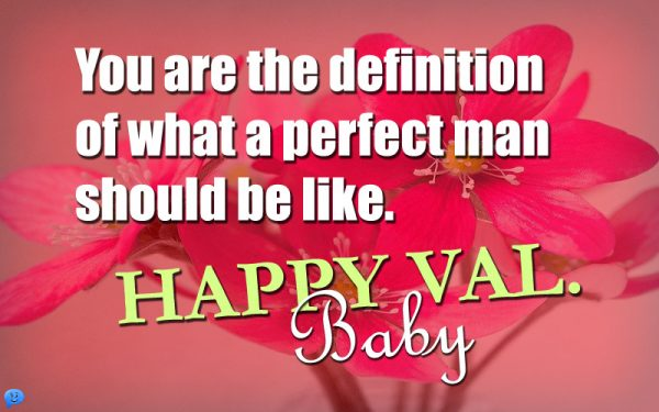 You're the definition of what a perfect man should be like. Happy Val. Baby!