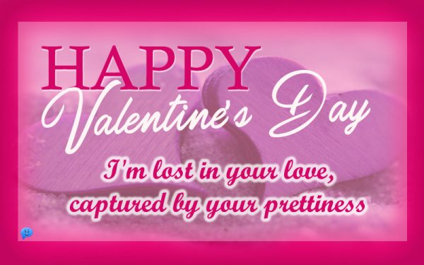 Happy Valentine's Day! I'm lost in your love, captured by your prettiness.