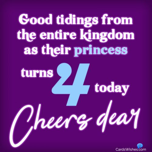 Good tidings from the entire kingdom as their princess turns 4 today. Cheers dear.