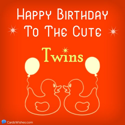 Happy Birthday to the cute twins.