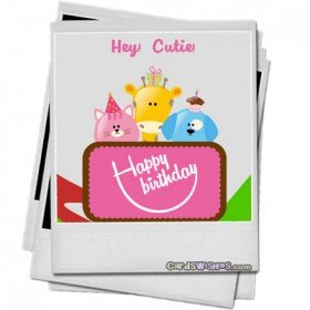 Happy Birthday to my friend's daughter