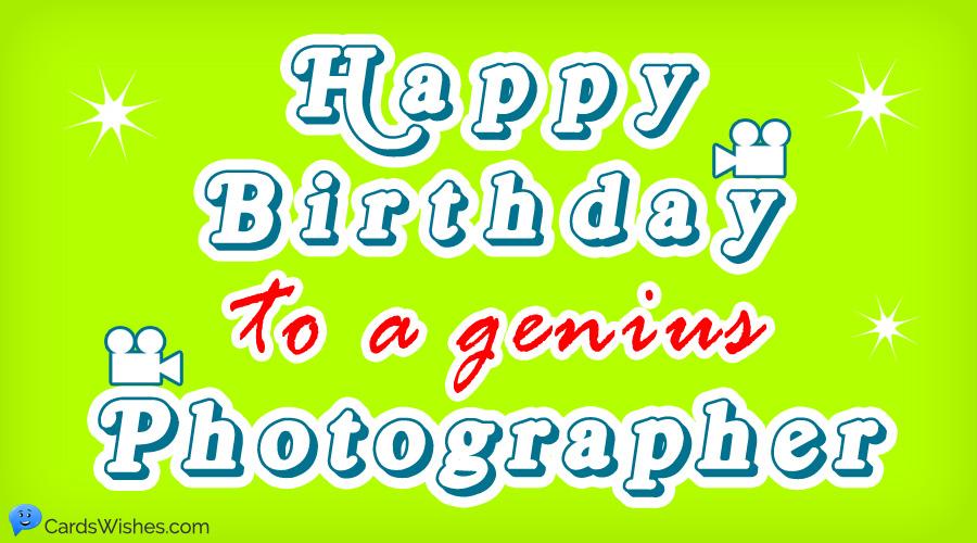 Happy Birthday to a genius photographer.