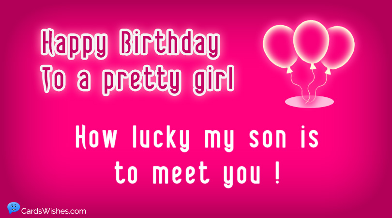 Birthday Wishes for Son's Girlfriend - Cards Wishes